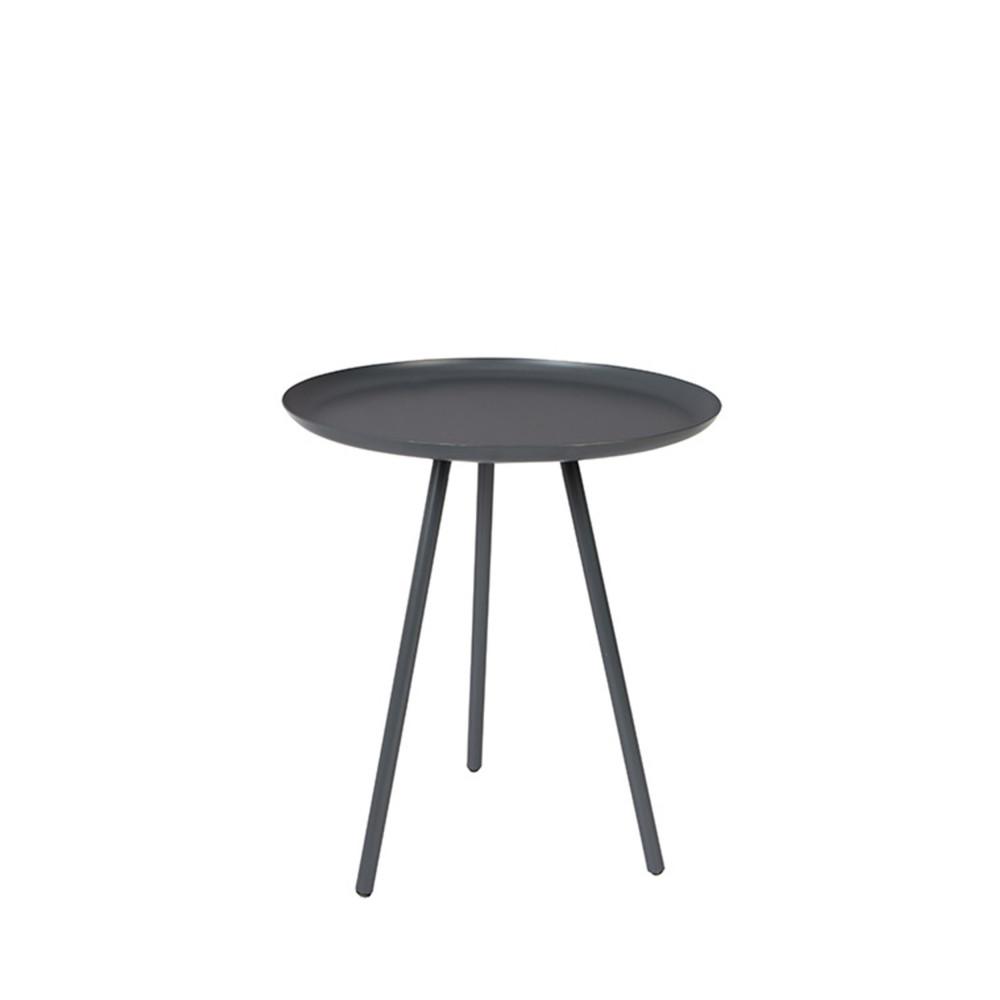 Table basse métal tripode charbon