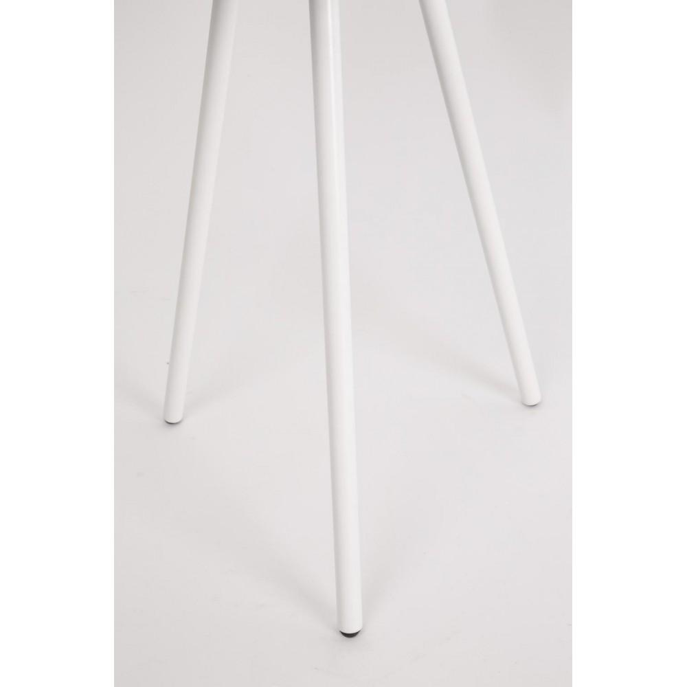 Table basse métal tripode blanc