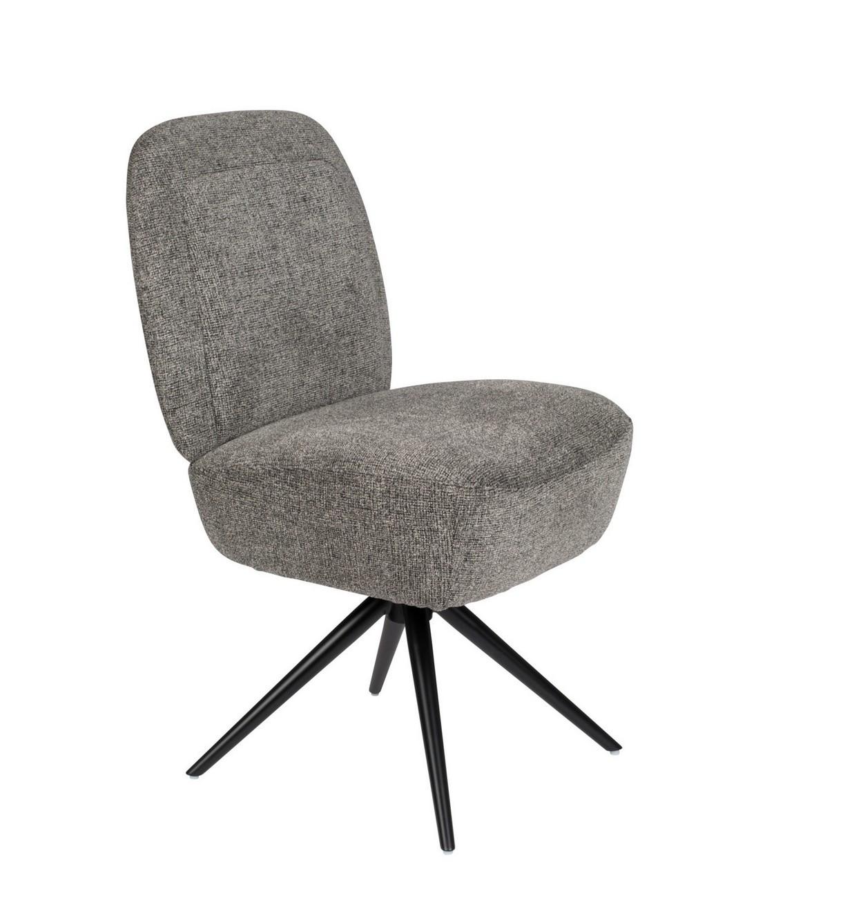 maison du monde chaise design grise en tissu