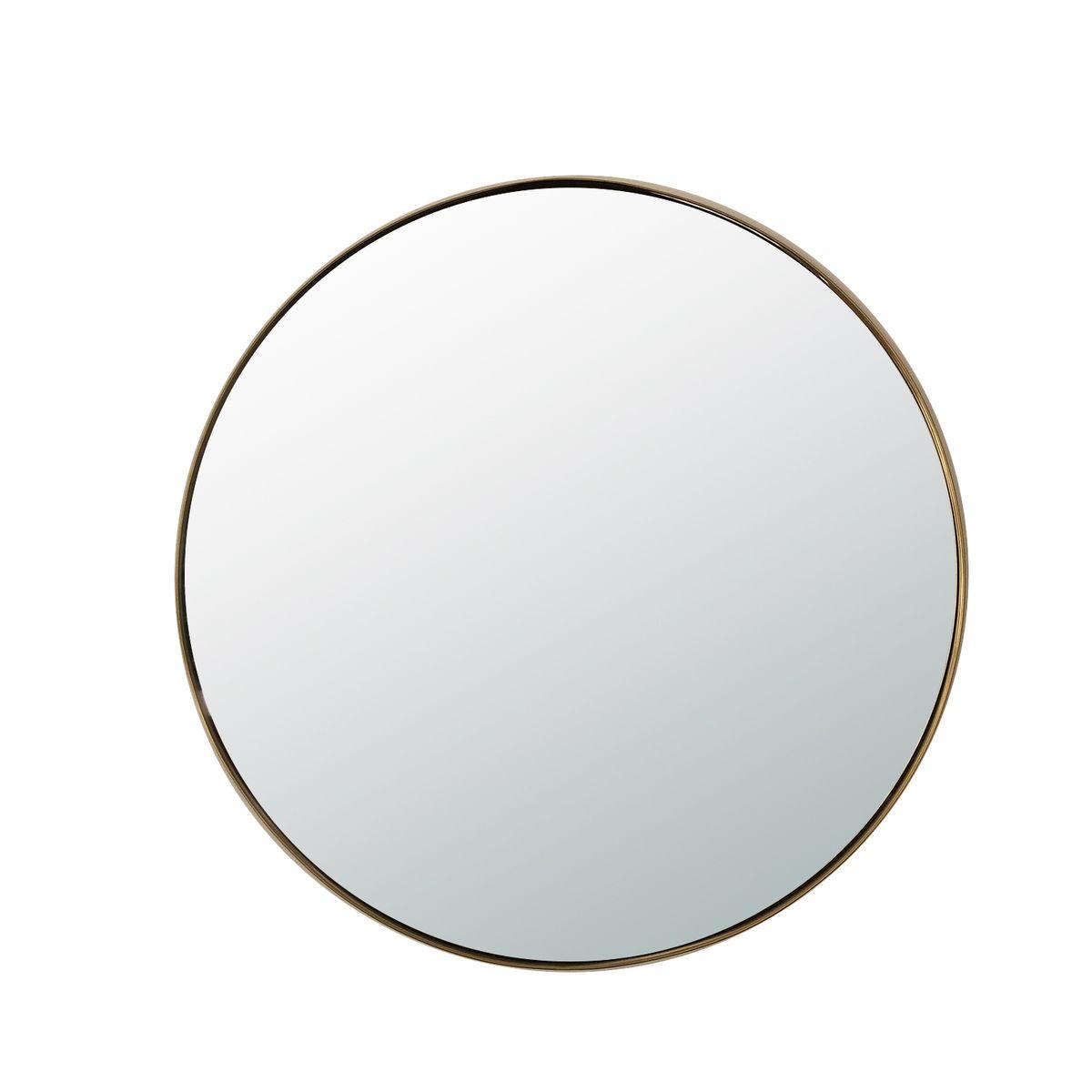 Miroir rond Ø80 en laiton or