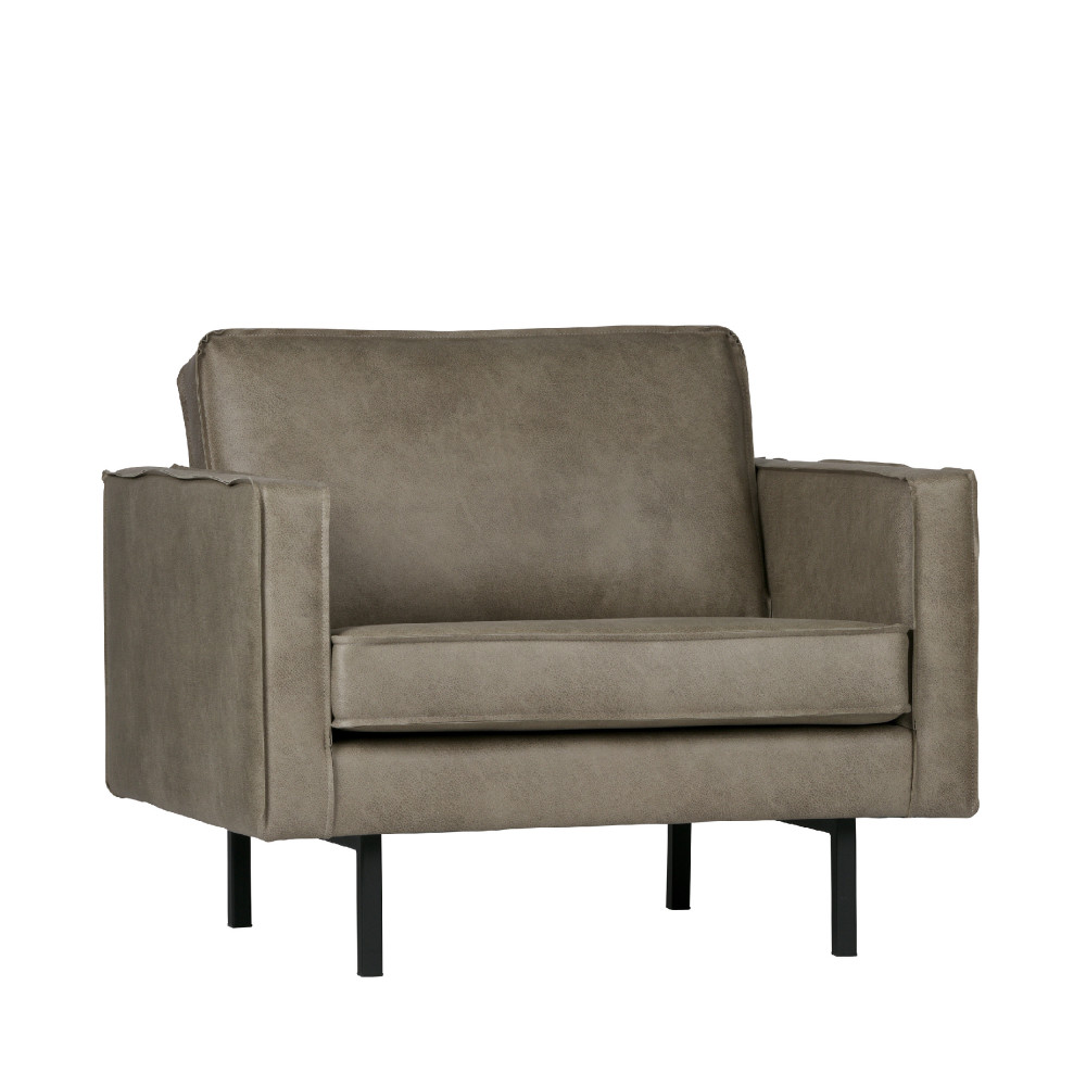 Fauteuil vintage elephant skin taupe