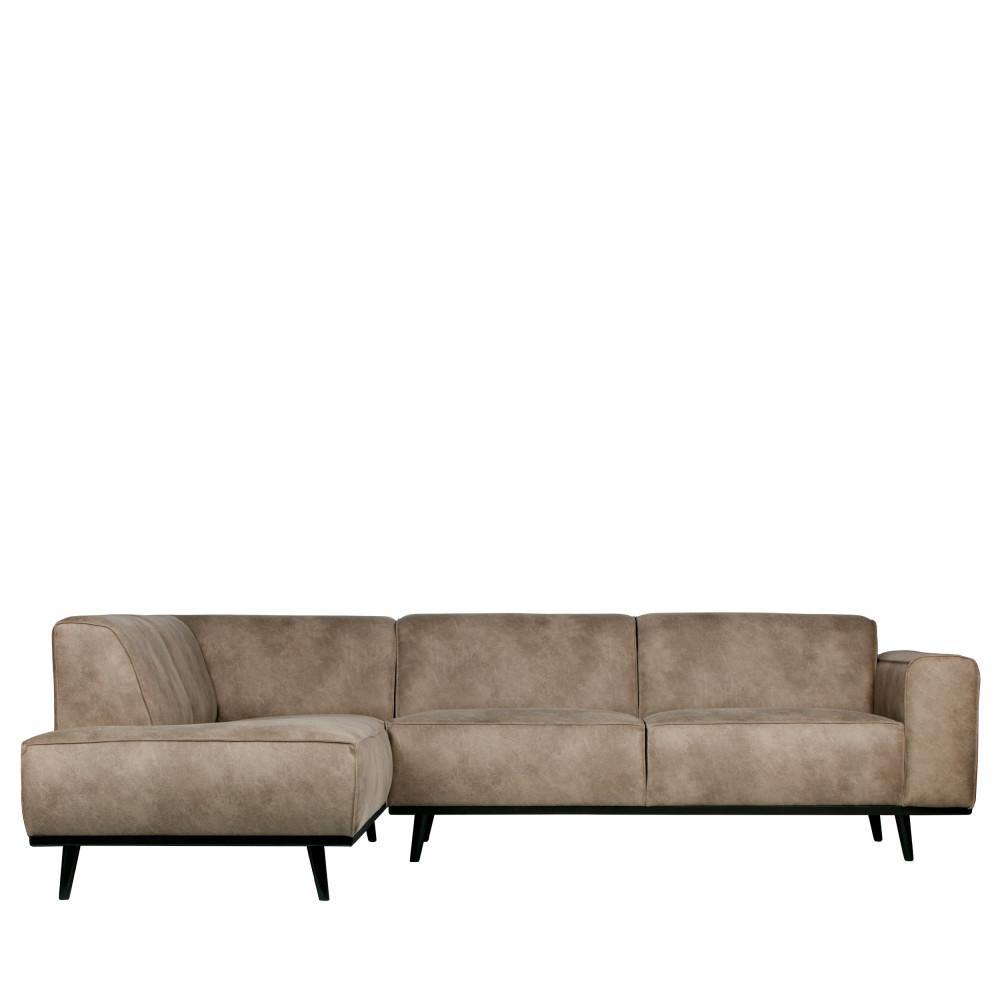Canapé d'angle gauche en Elephant Skin taupe