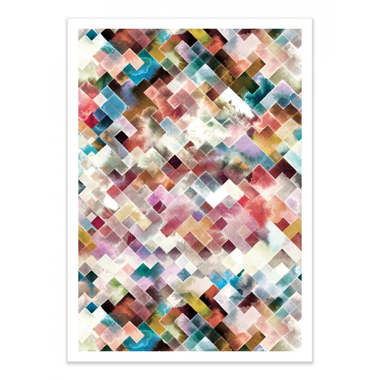 MOODY GEOMETRY PINK NEON -   Affiche d'art 50 x 70 cm