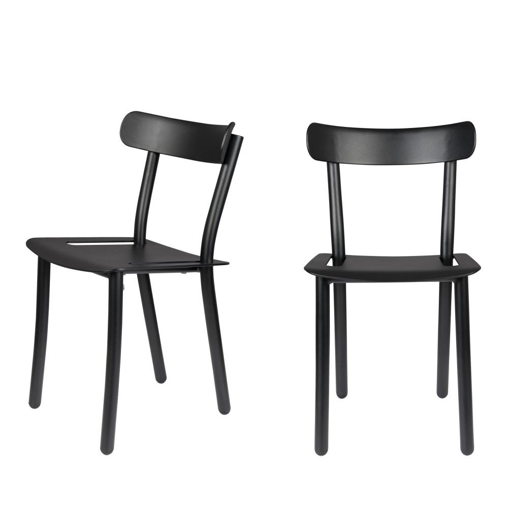 2 chaises de jardin noir