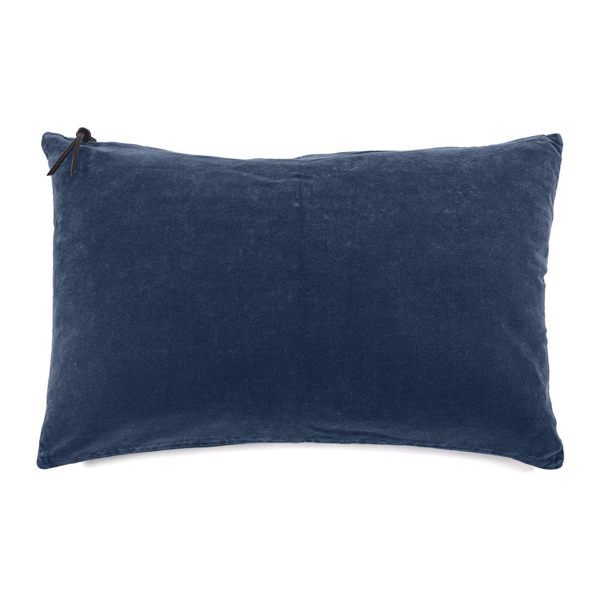COUSSIN - Lavage de velours Bleu Pétrole 50x70