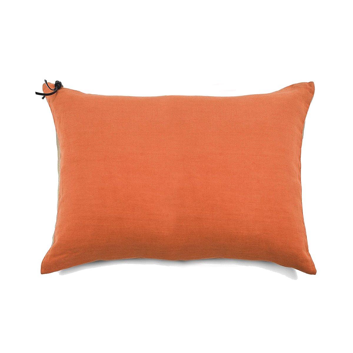 L'ESSENTIEL - Coussin Lin pur lavé Orange 50x70