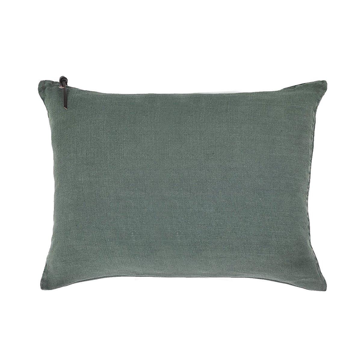 L'ESSENTIEL - Coussin Lin pur lavé Vert anglais 50x70