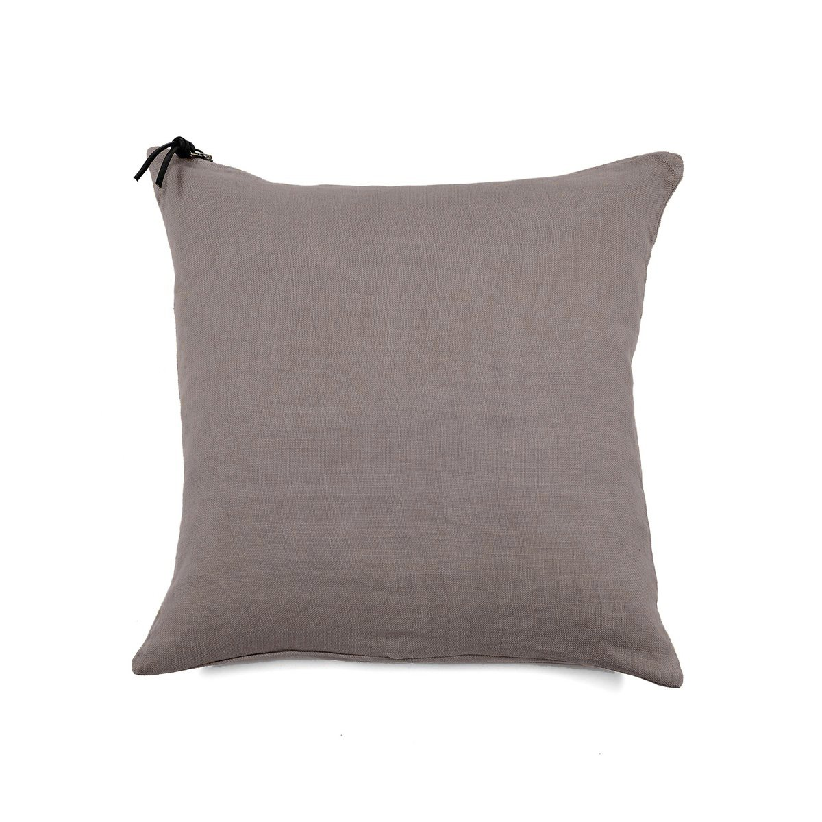 Coussin Lin pur lavé Taupe  45x45