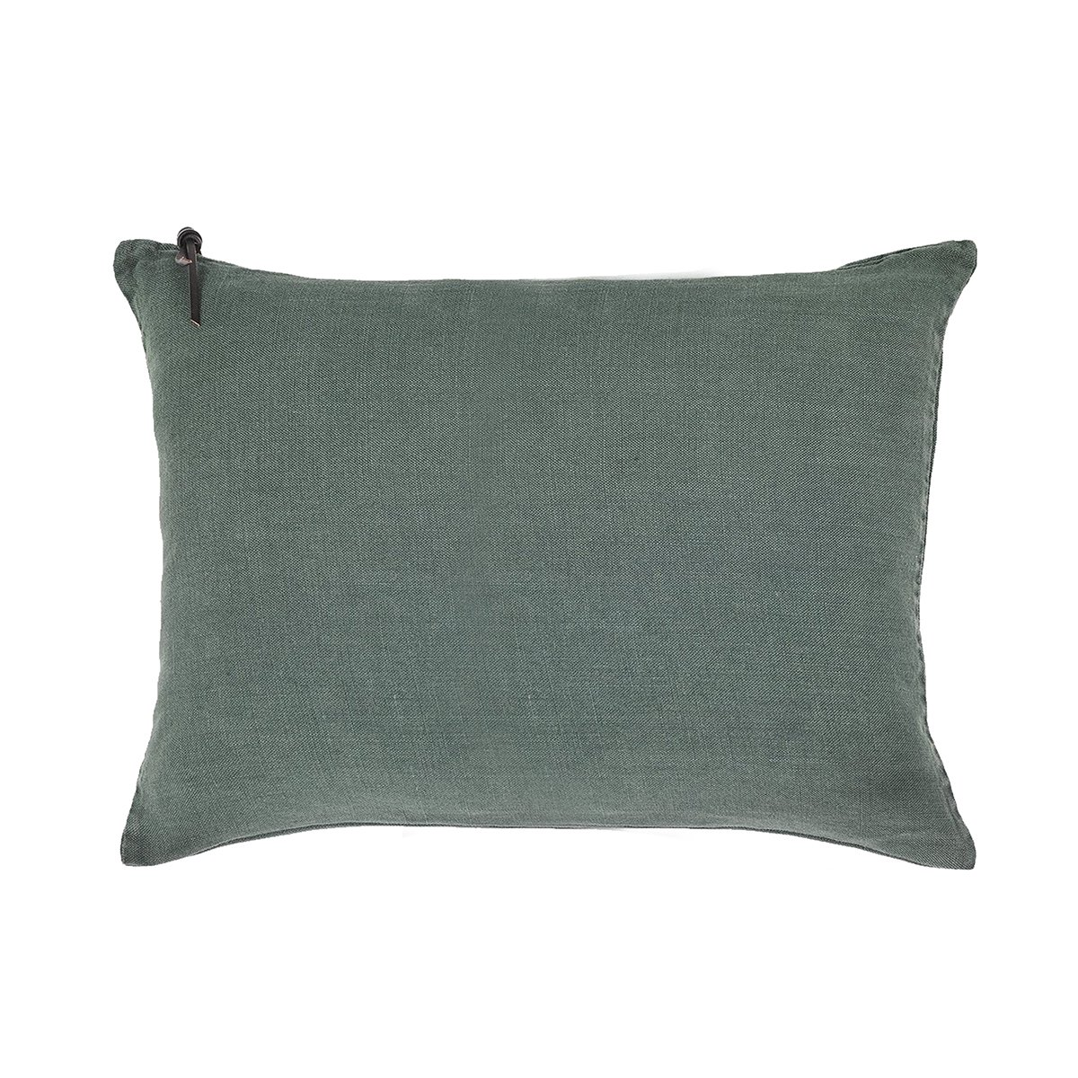 Coussin Lin pur lavé  Vert anglais 40x60