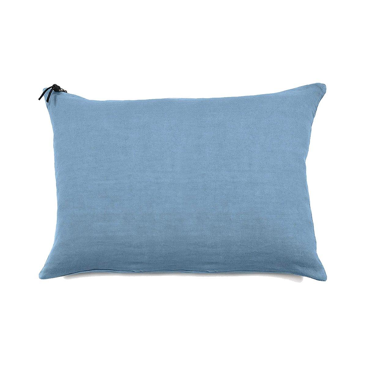 L'ESSENTIEL - Coussin Lin pur lavé Turquoise 50x70