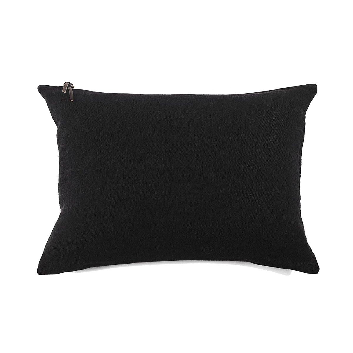 Coussin Lin pur lavé  Noir 40x60