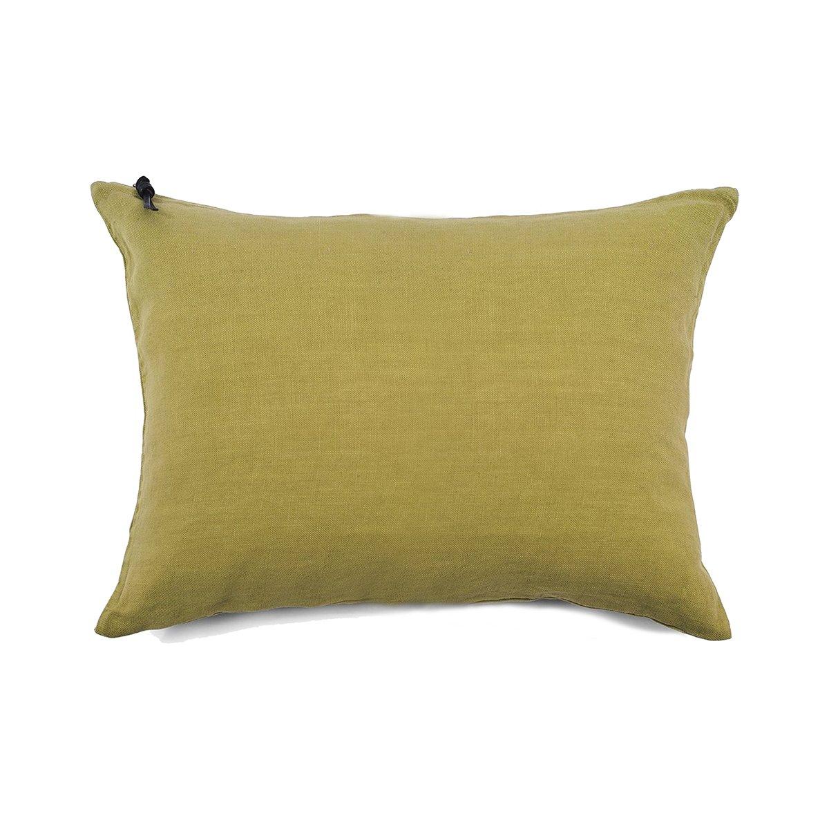 L'ESSENTIEL - Coussin Lin pur lavé Vert Citron 50x70