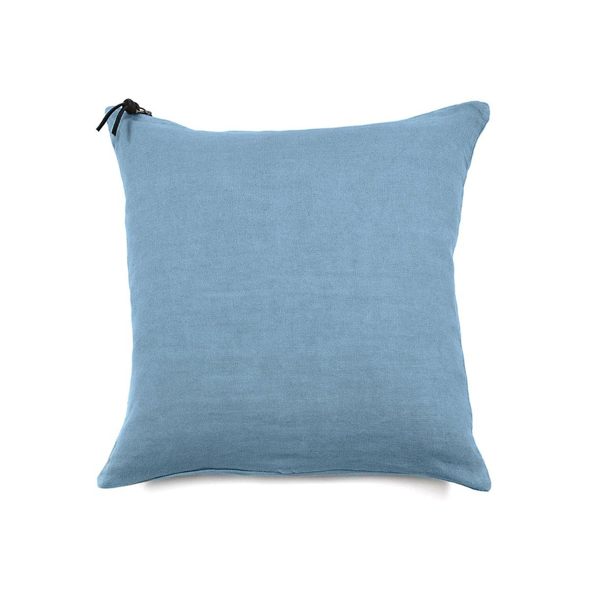 L'ESSENTIEL - Coussin Lin pur lavé Turquoise 45x45