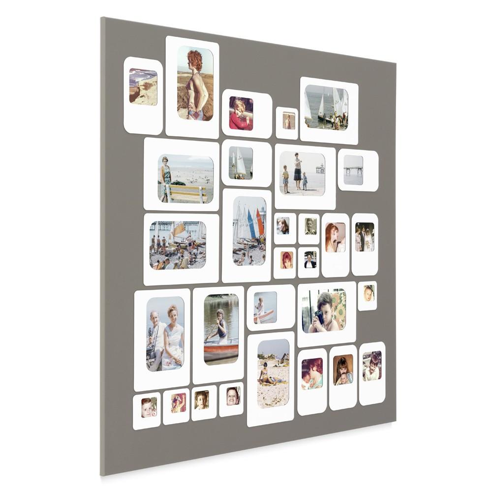 Cadre photo design pêle mêle gris 69x69cm