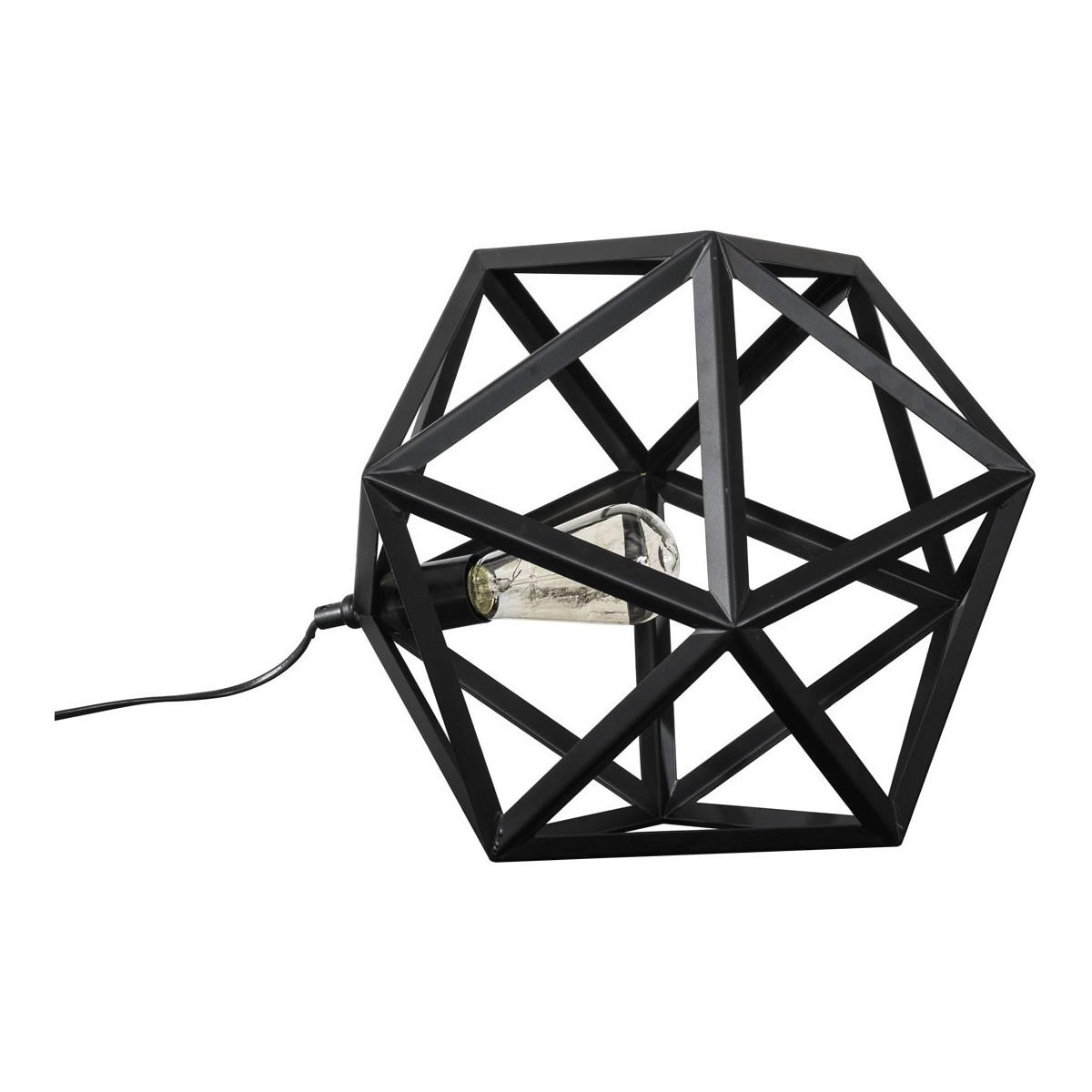 SALOMÉ - Lampe de table vintage en métal noir