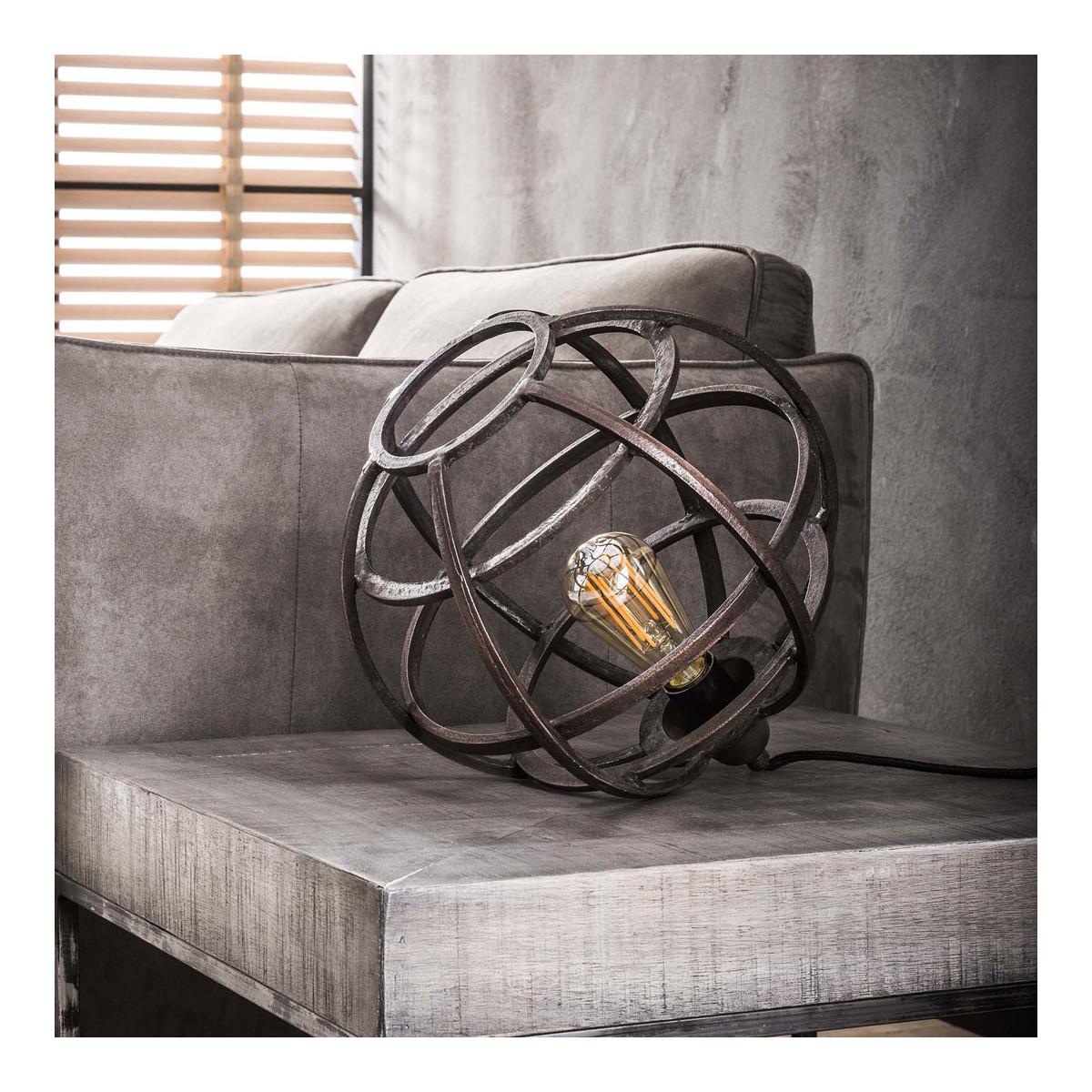 Lampe de table vintage en métal cuivré D33