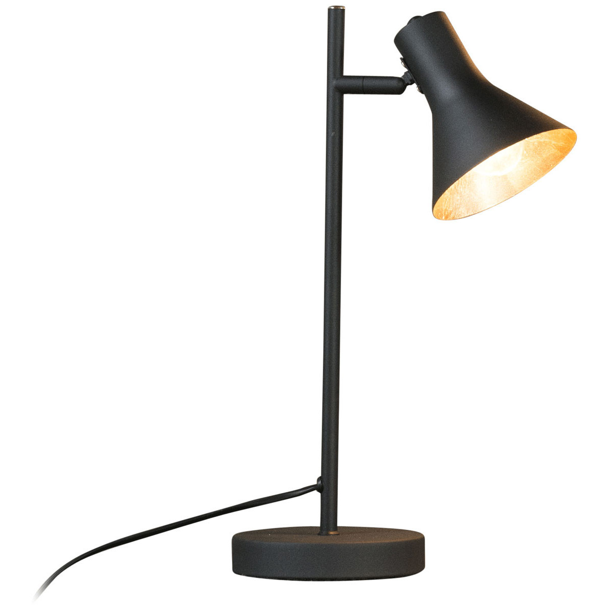Lampe de table vintage en métal noir