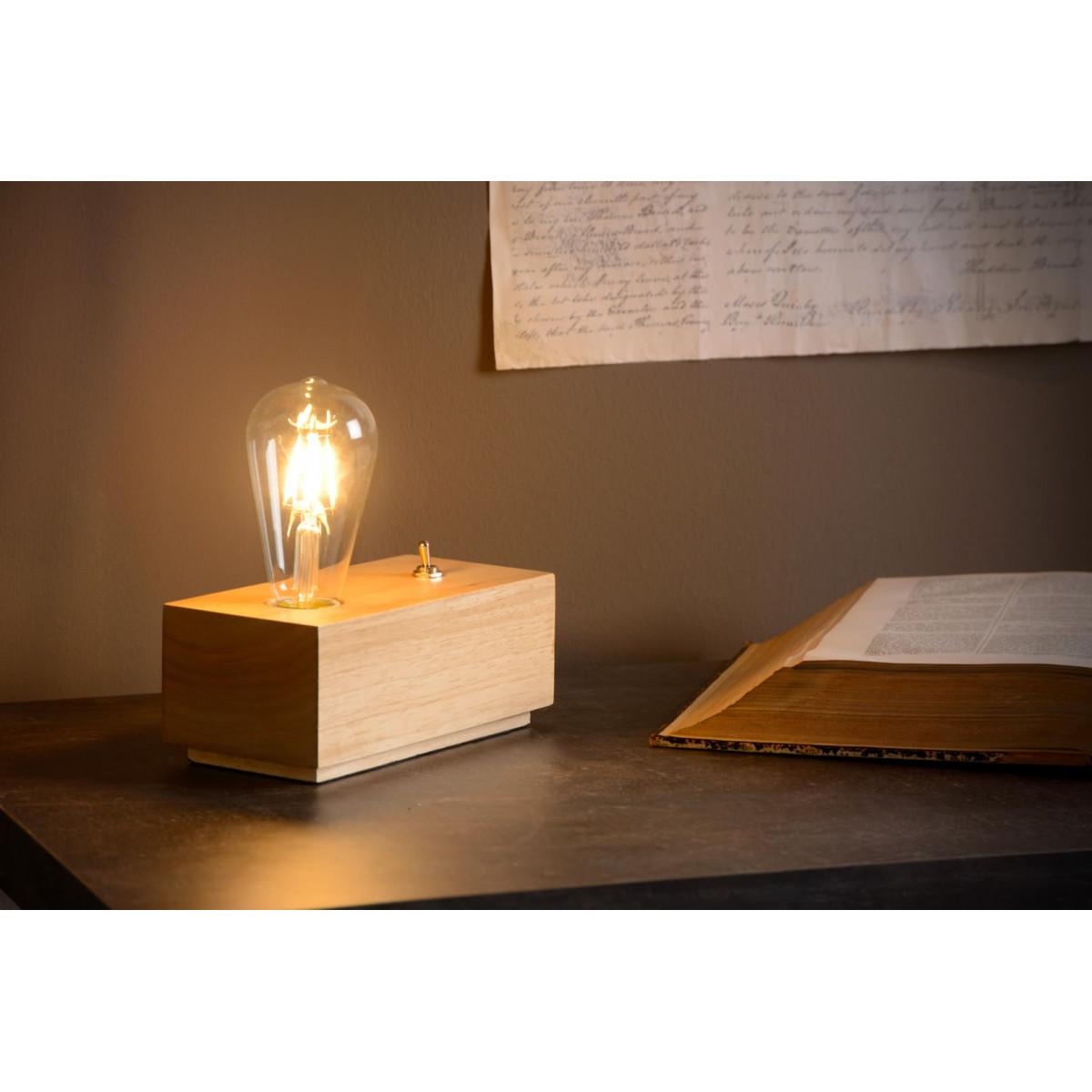 Lampe à poser moderne en bois