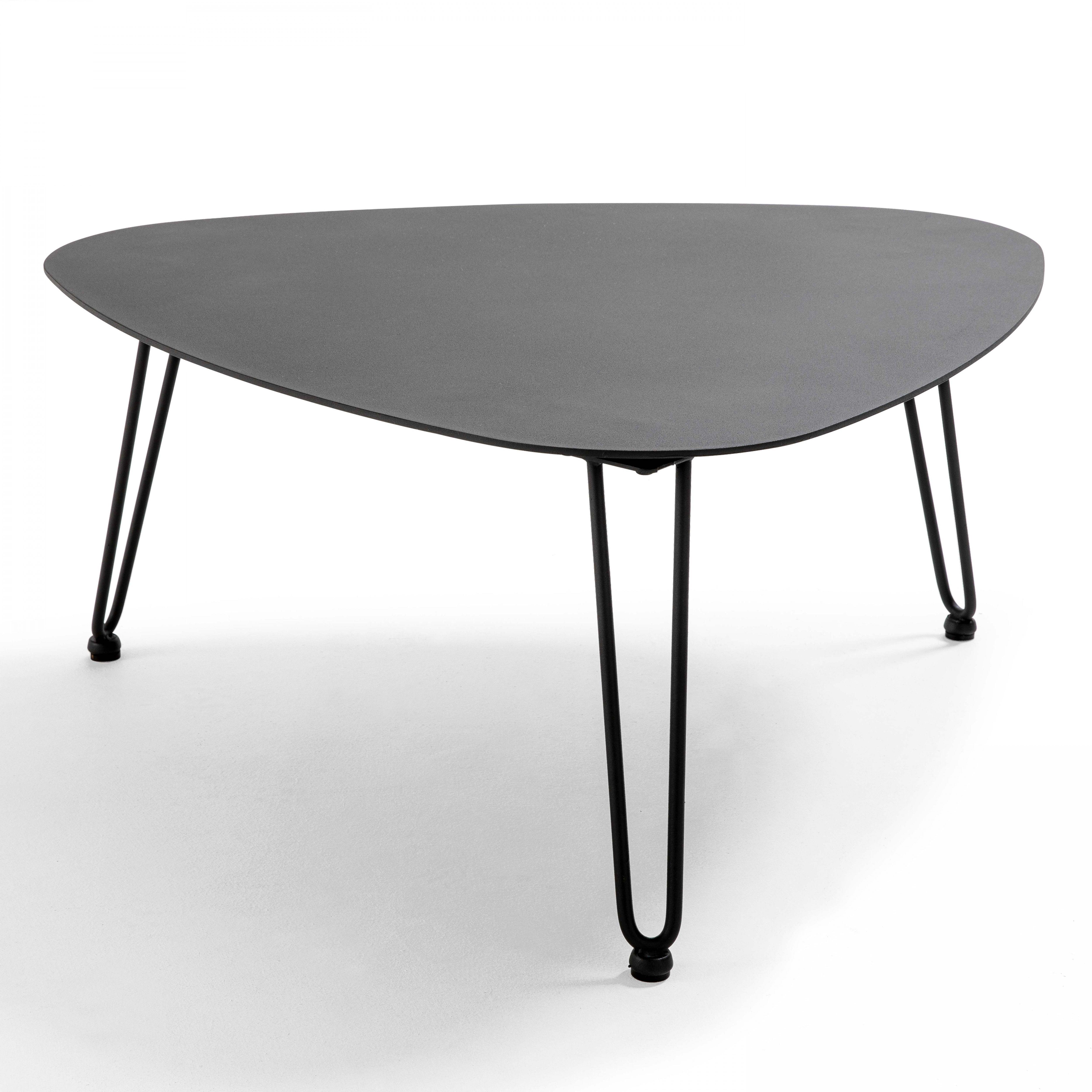 Table basse en aluminium gris foncé