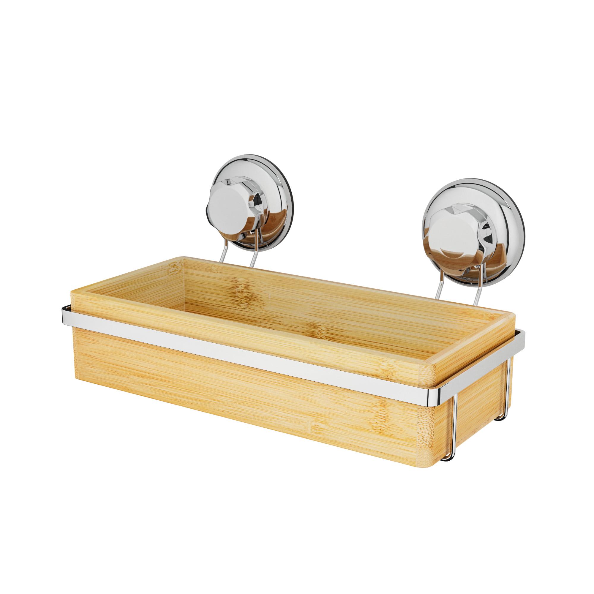 Porte-savon en bambou à ventouse
