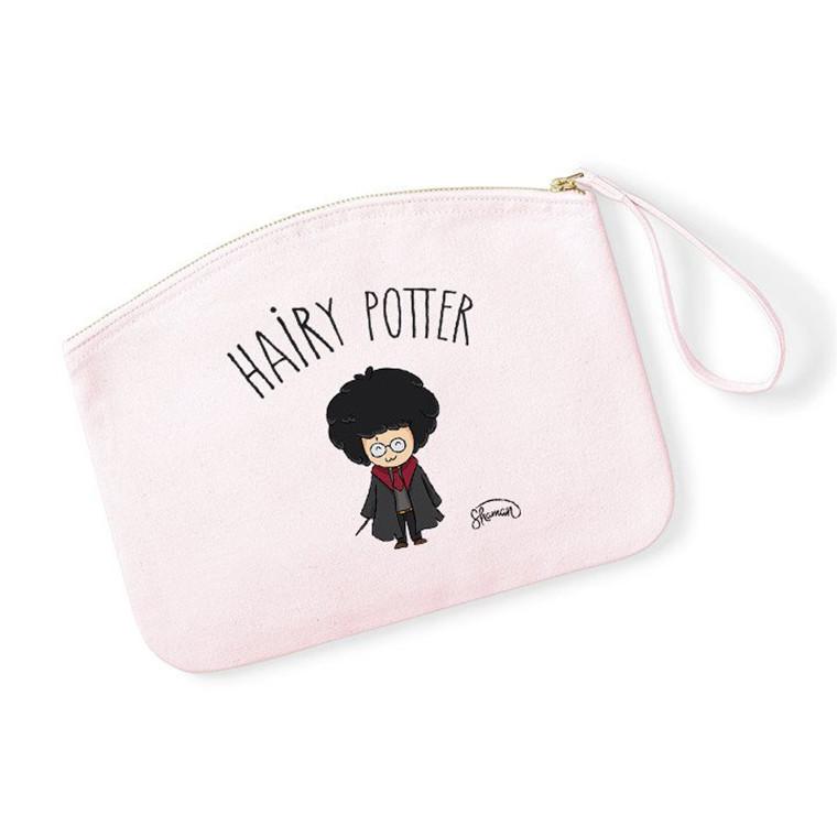 HAIRY POTTER - Pochette Rose Pastel en coton