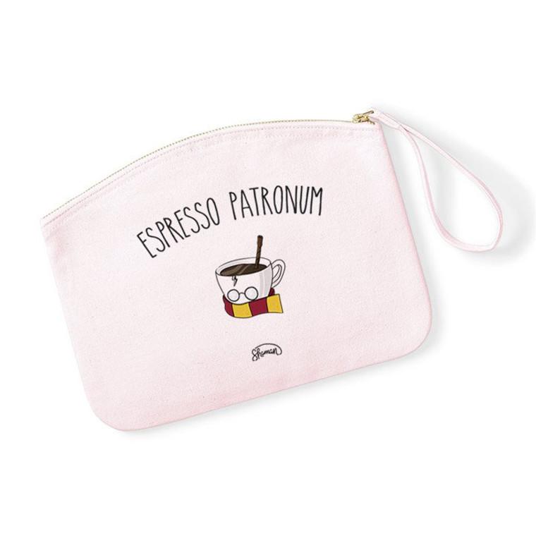 ESPRESSO PATRONUM - Pochette Rose Pastel en coton