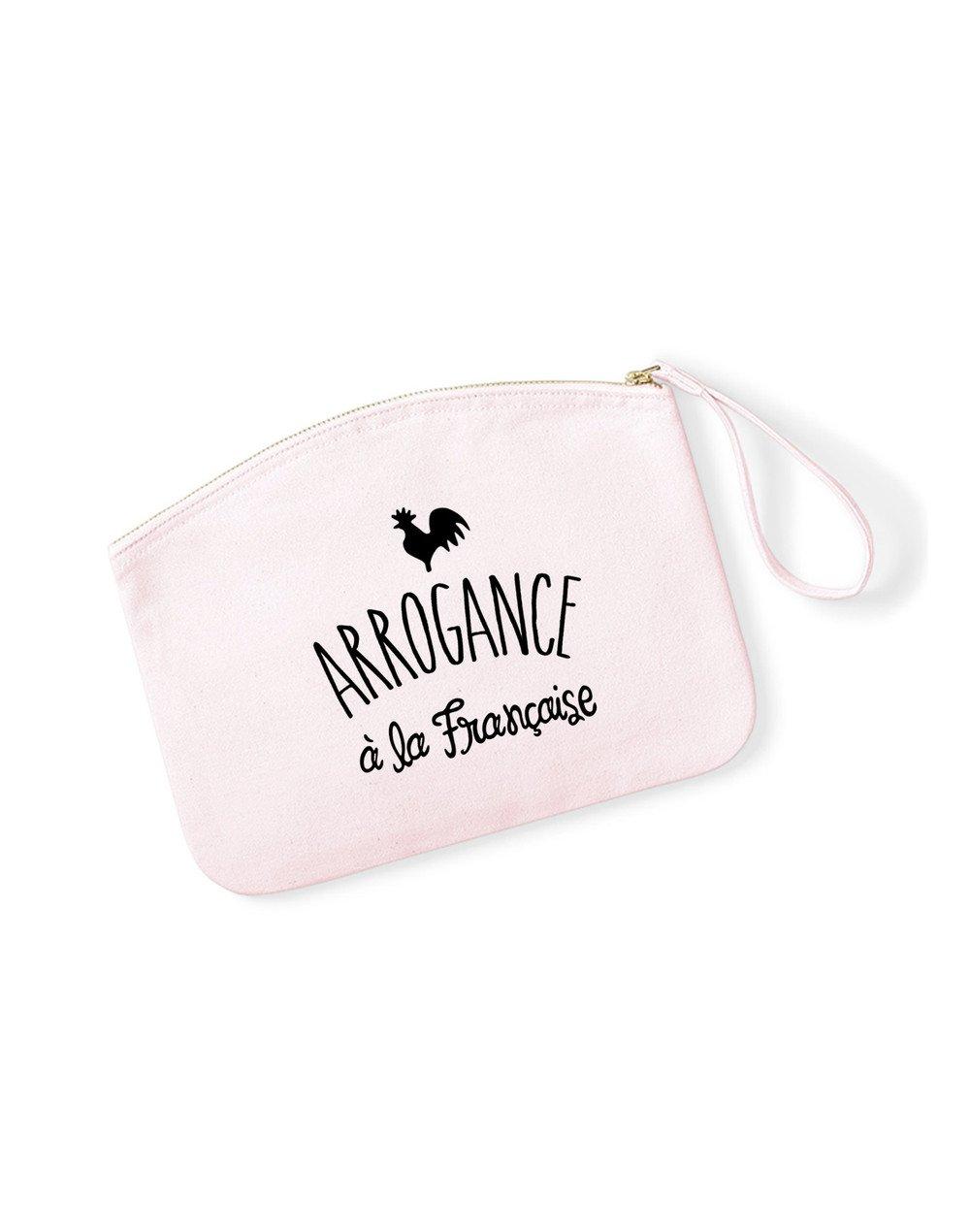 ARROGANCE À LA FRANÇAISE - Pochette Rose Pastel en coton