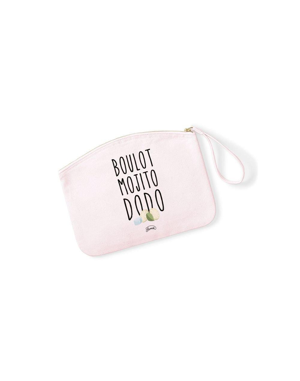 BOULOT MOJITO DODO - Pochette Rose Pastel en coton