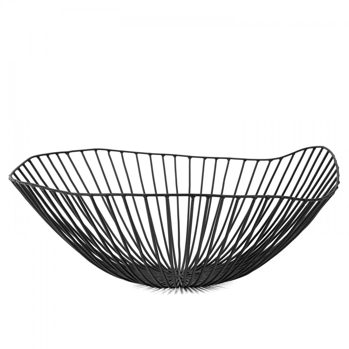 Corbeille en métal noir D39cm