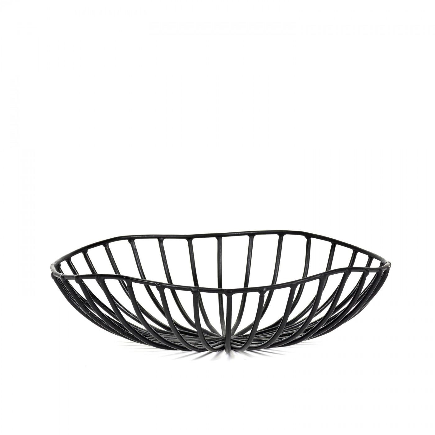 Corbeille à pain en métal noir D20cm