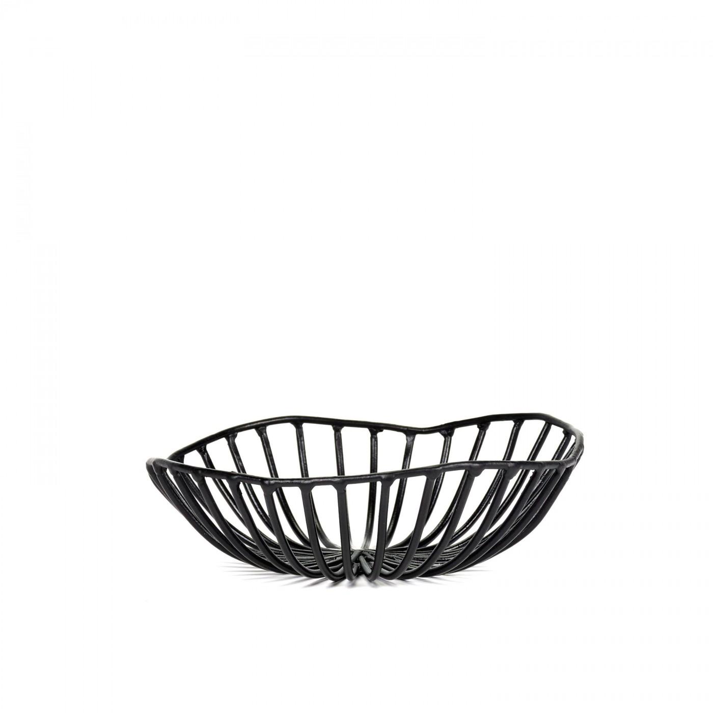 Corbeille à pain en métal noir D15cm