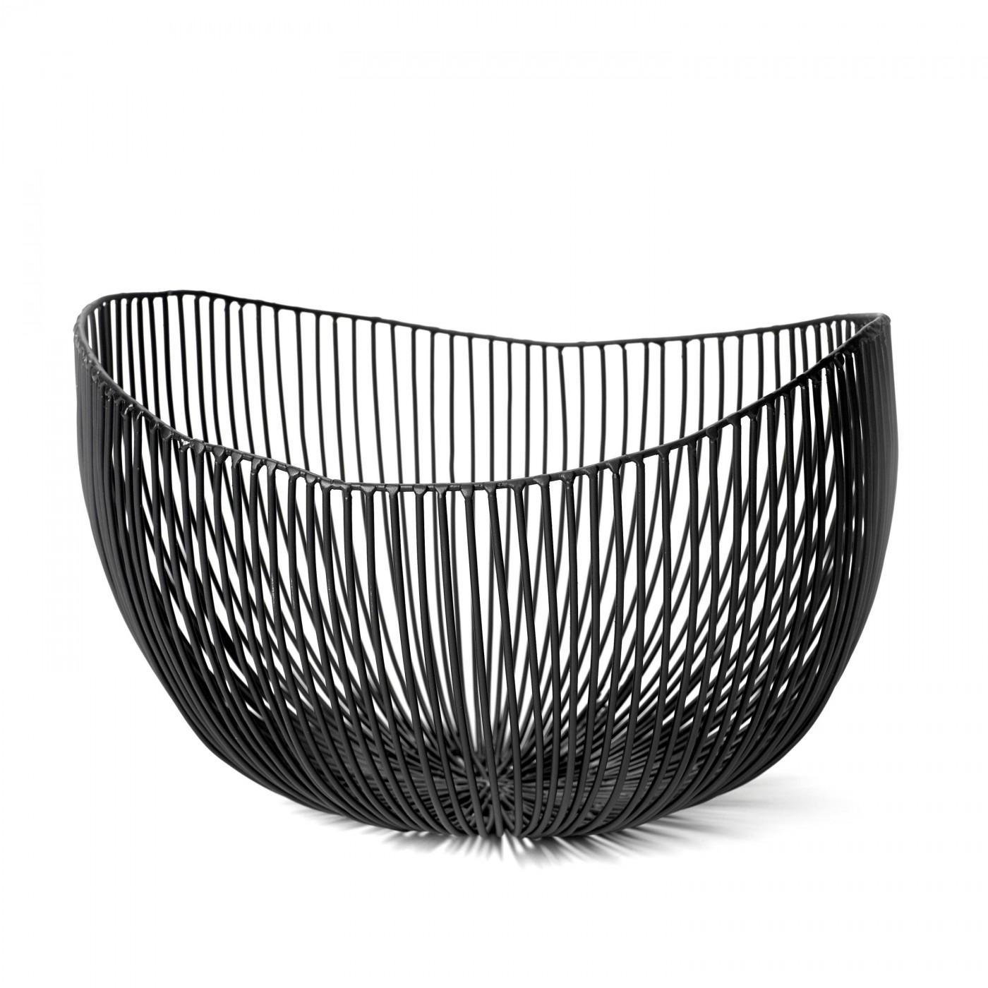 Corbeille en métal noir D31cm