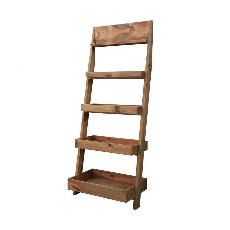 Bibliothèque échelle en bois hauteur 2m