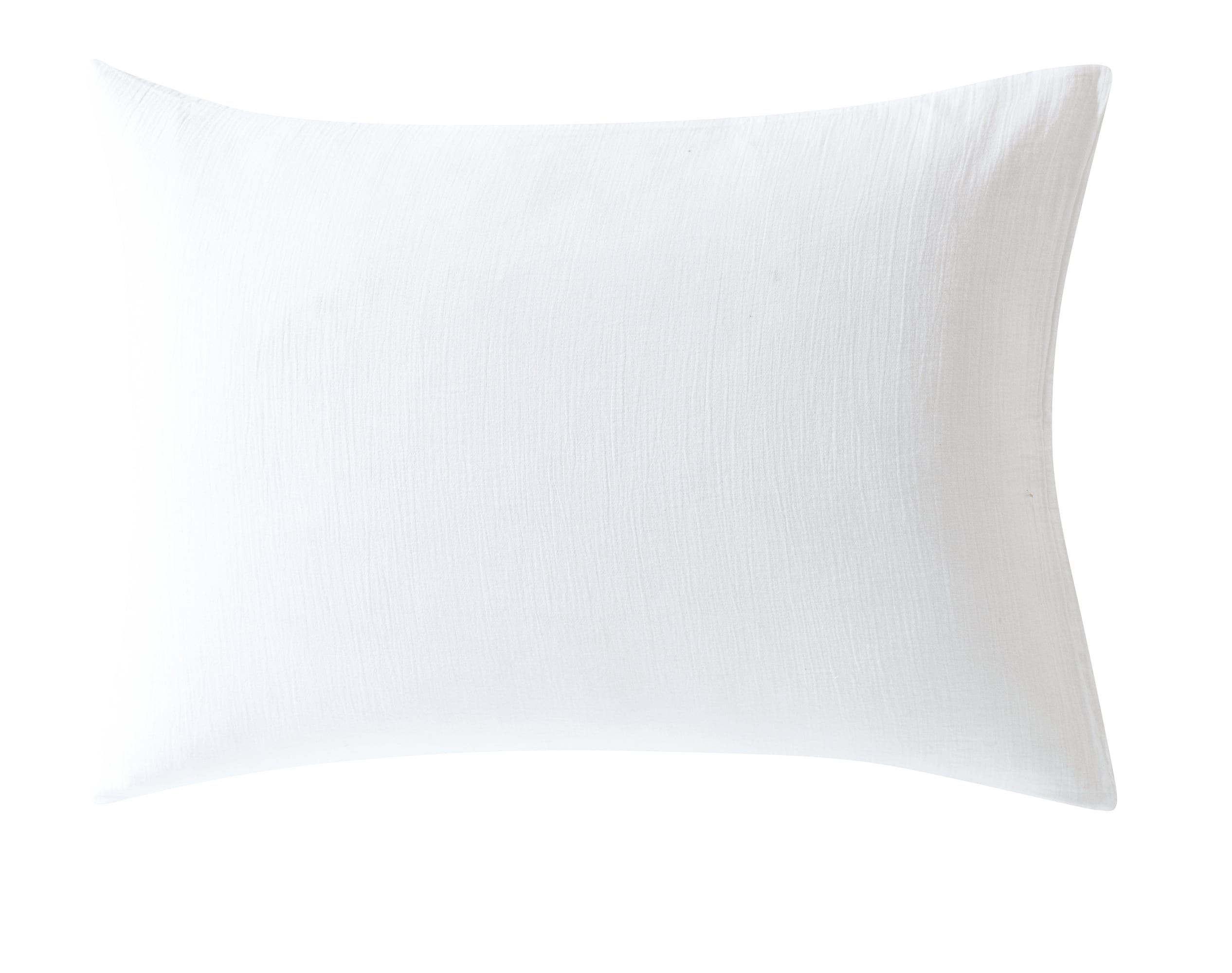 Taie d'oreiller 50x70 en gaze de coton blanc