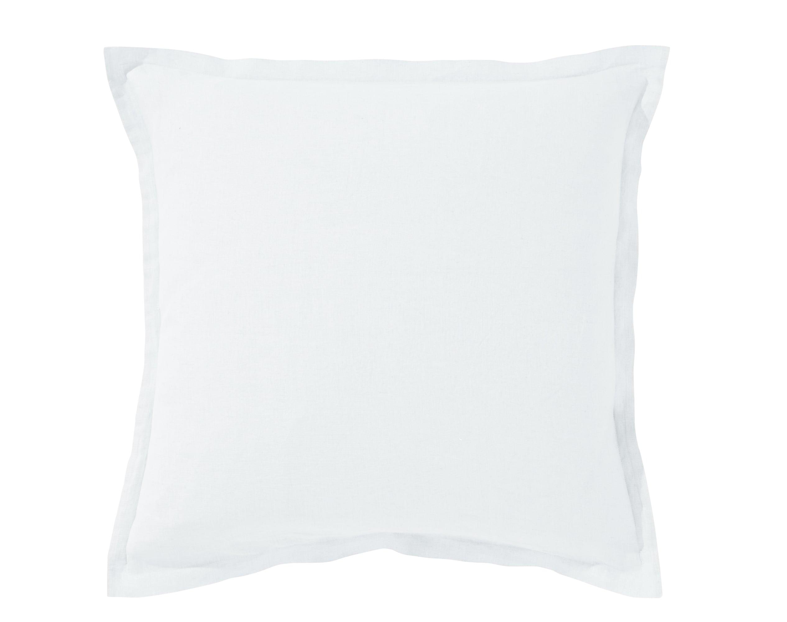 Taie d'oreiller 50x70 en lin lavé blanc