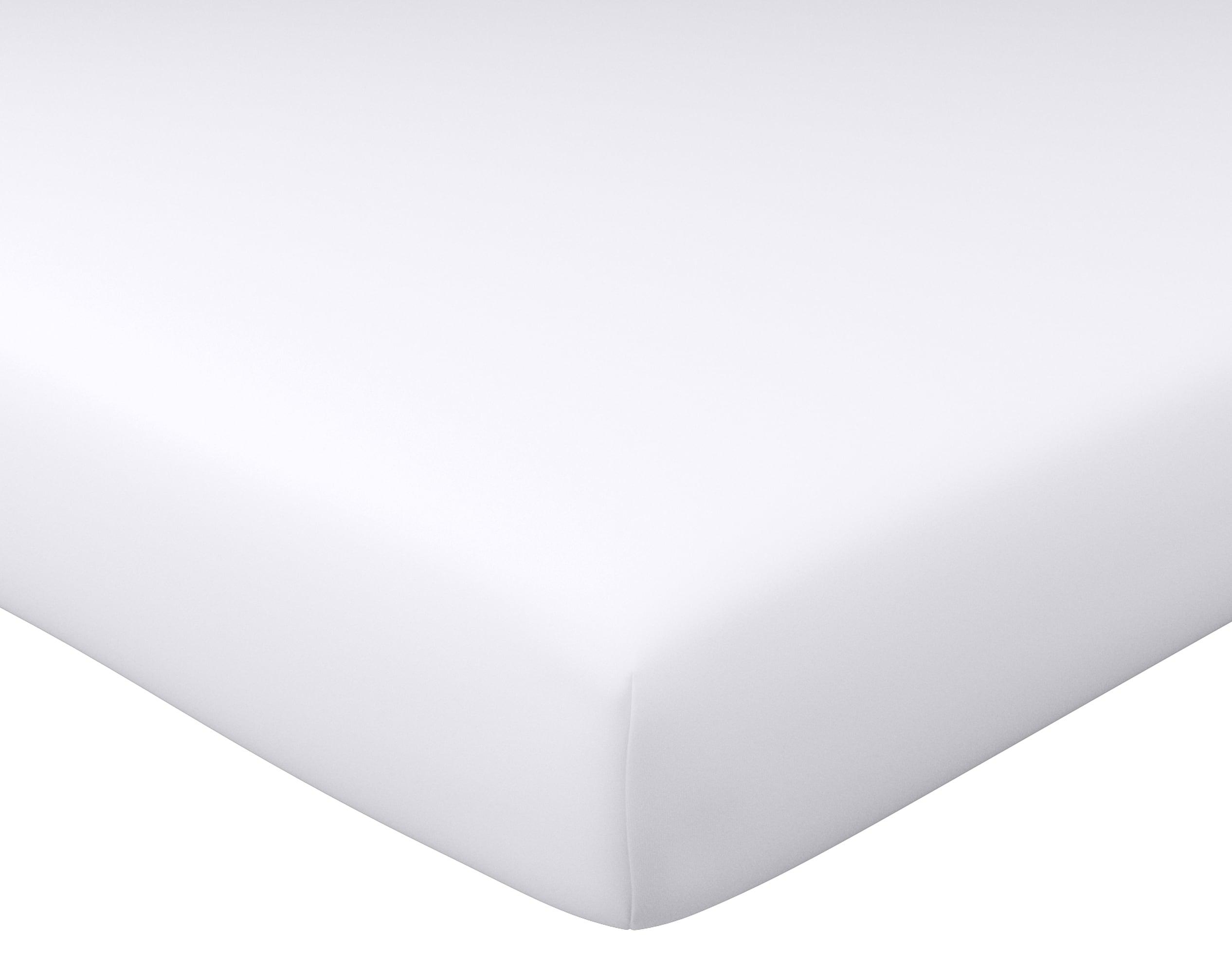 Drap-housse 80x190 en coton blanc