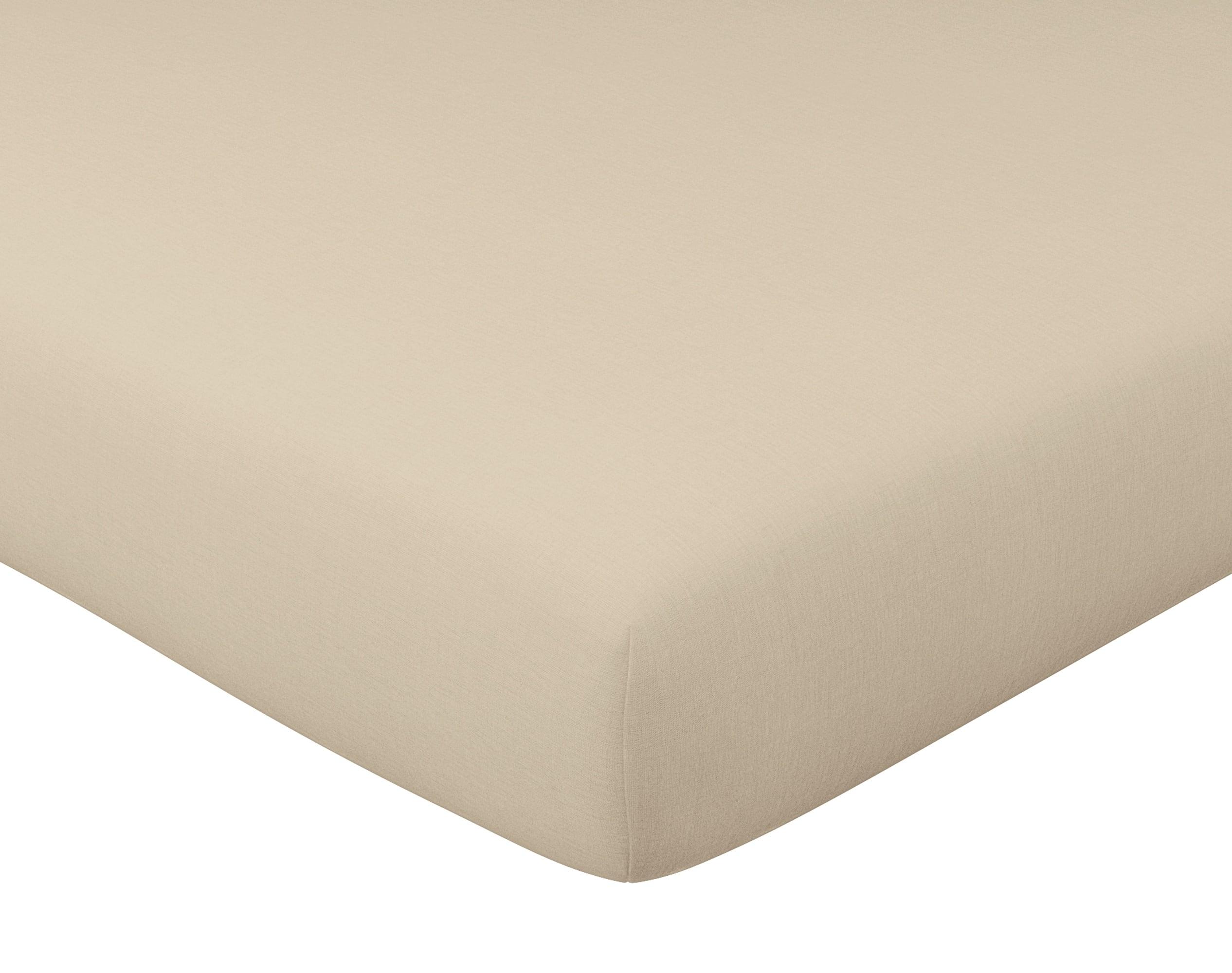 Drap-housse 90x200 en gaze de coton blanc