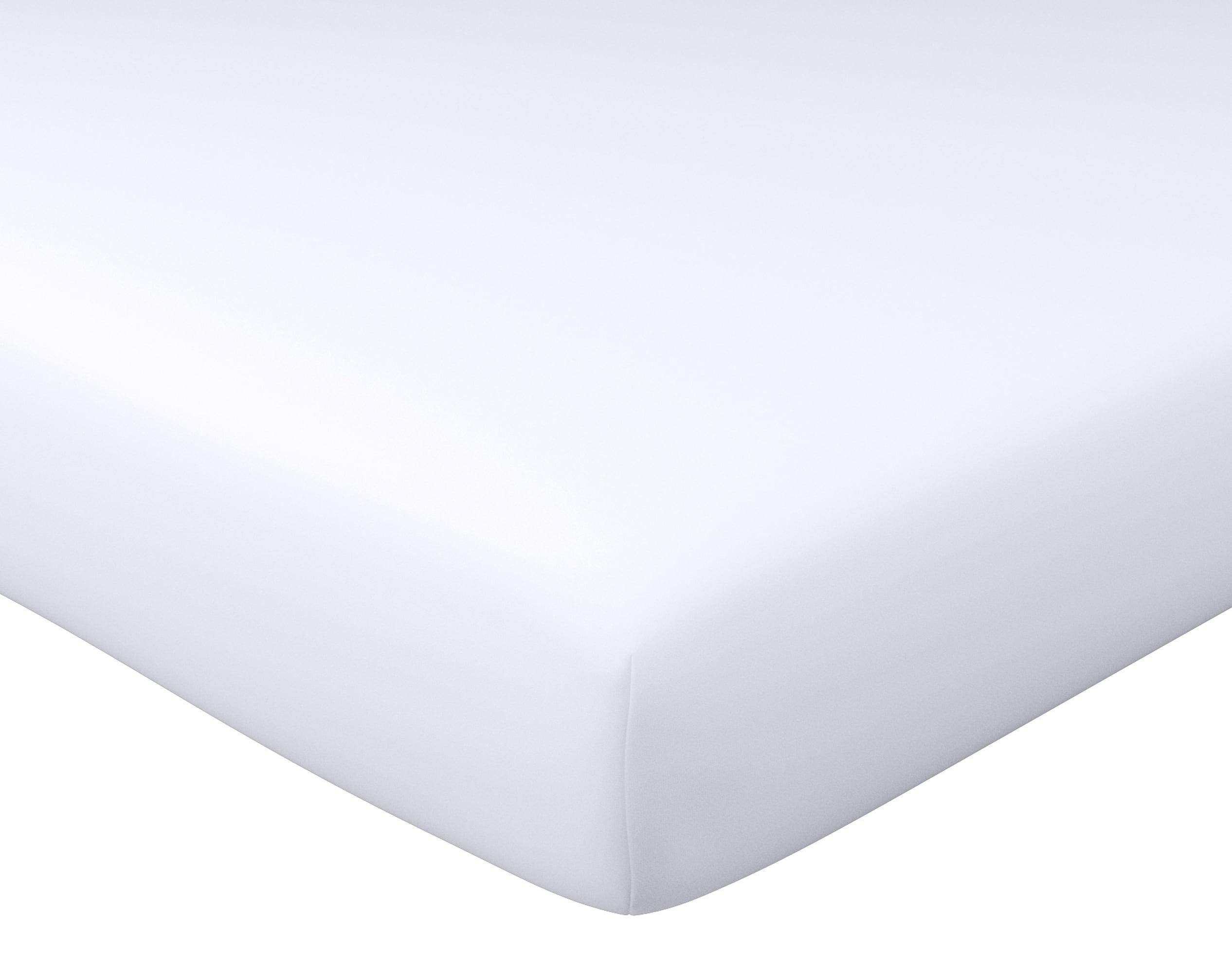 Drap-housse 90x190 en coton blanc
