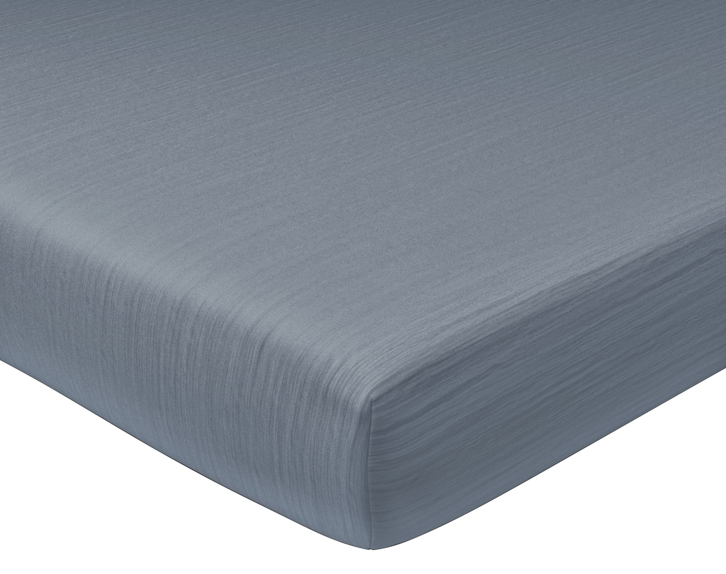 Drap-housse 90x200 en gaze de coton gris anthracite