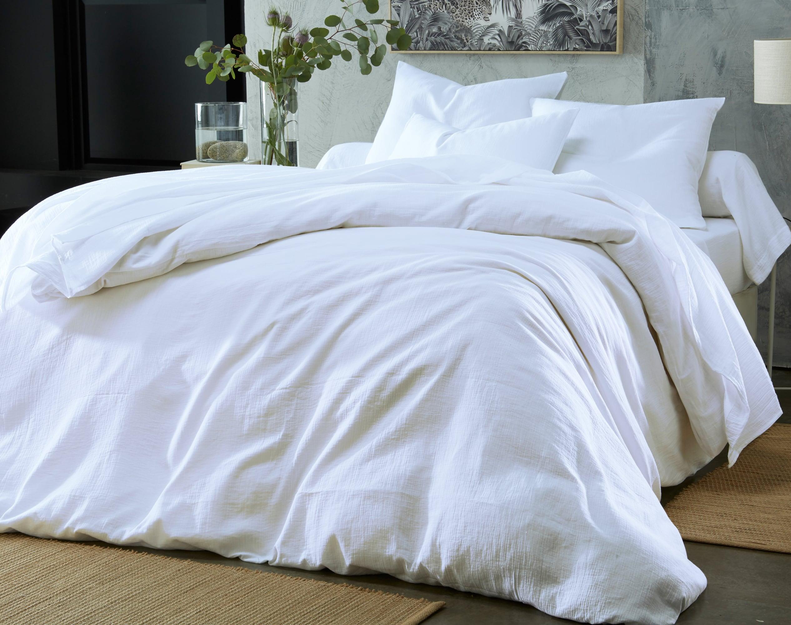 Housse de couette 200x200 en gaze de coton blanc
