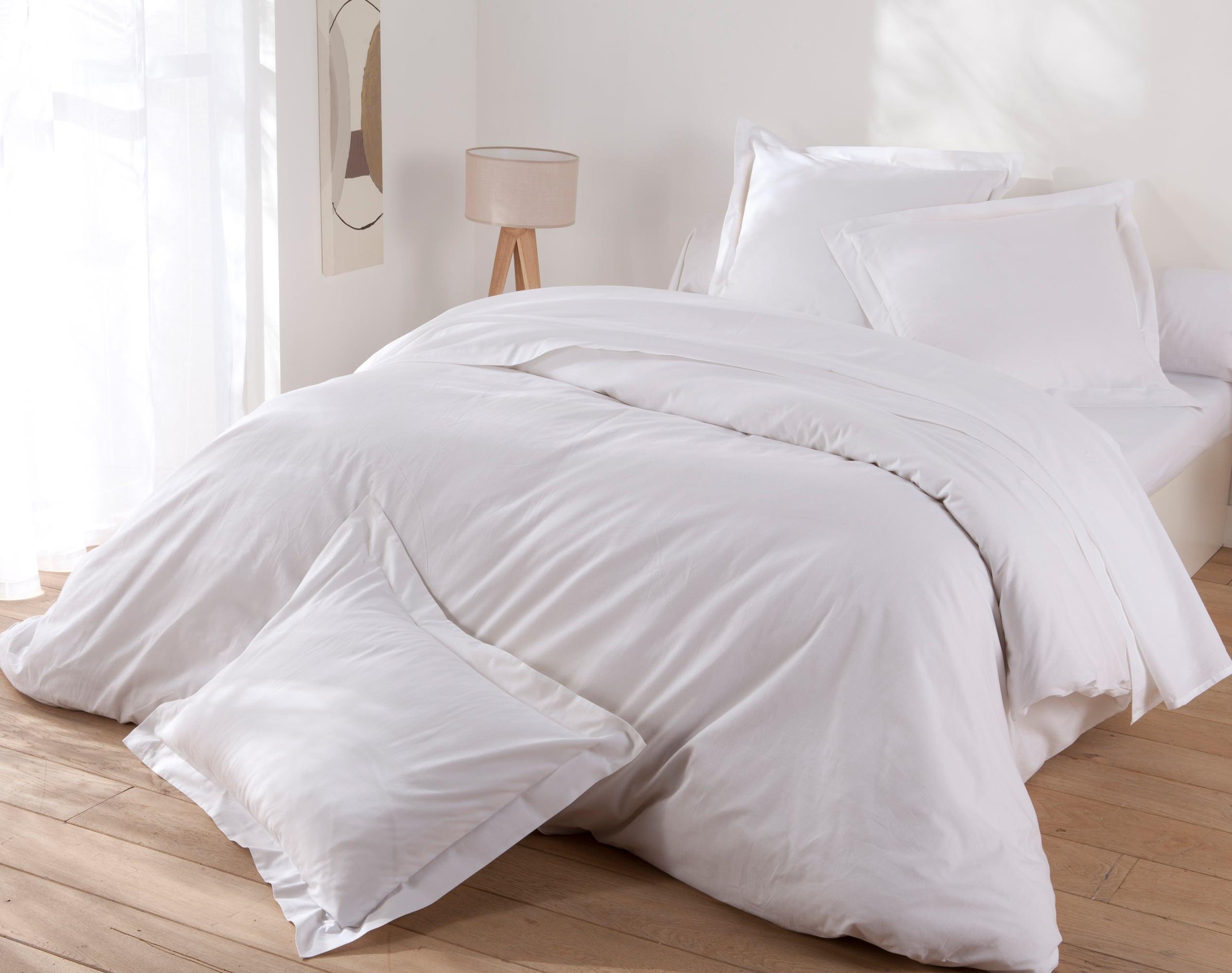 Housse de couette 200x200 en coton blanc