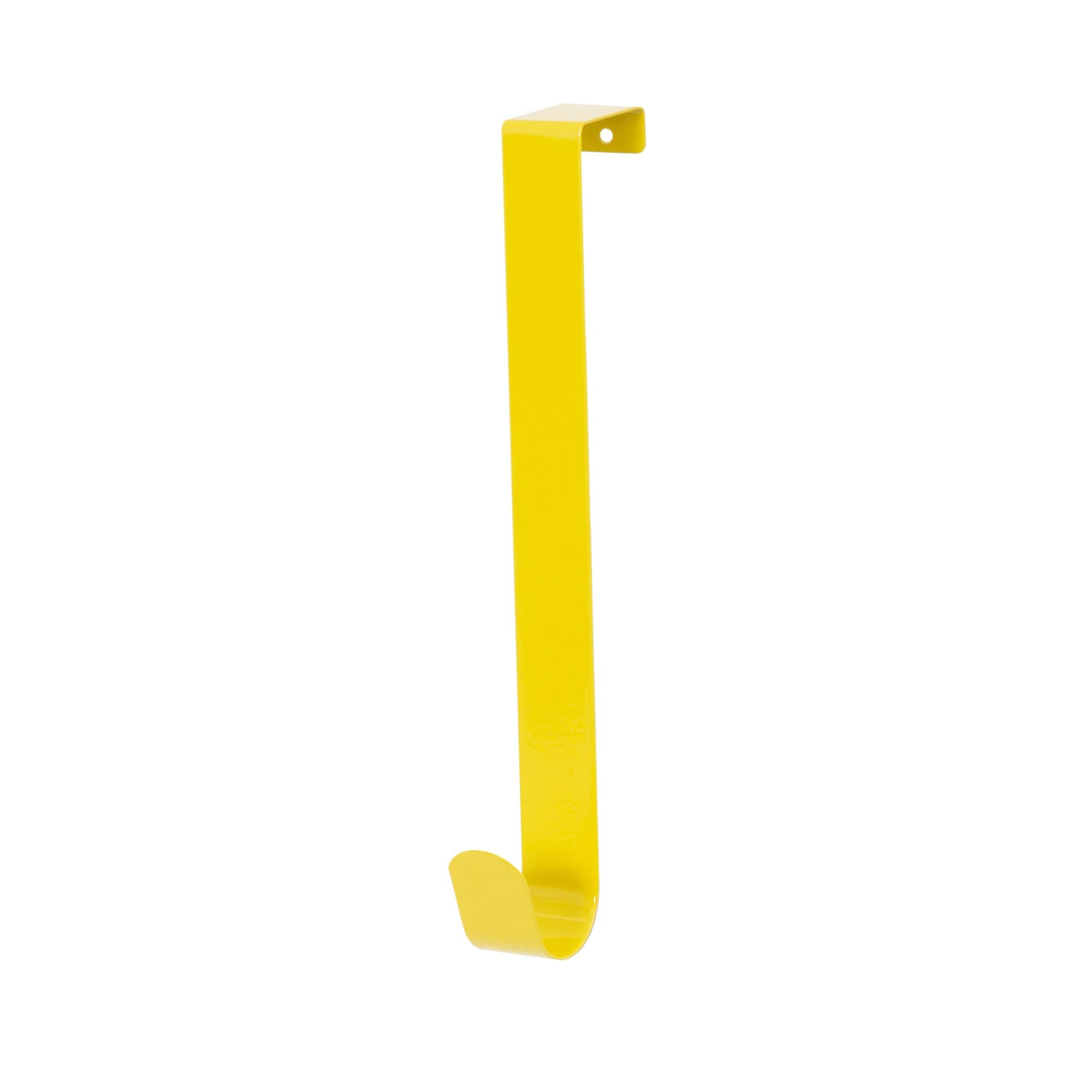 Patère de porte 1 crochet jaune