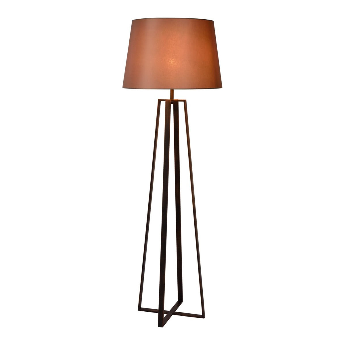 Lampadaire design en acier effet rouille