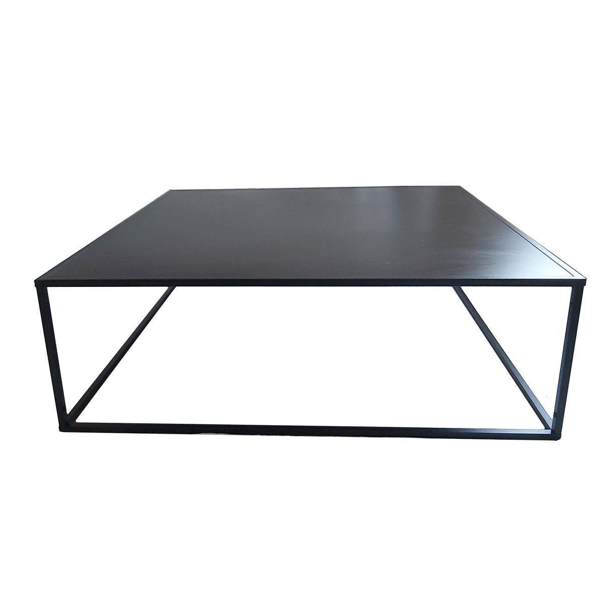 Table basse carrée  noir