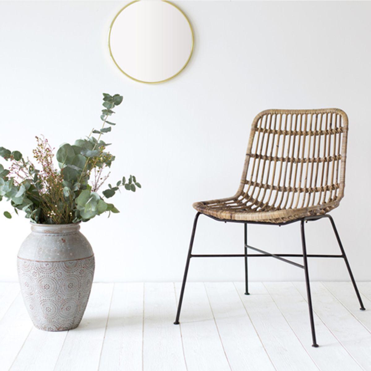 Chaise en rotin naturel  bois clair