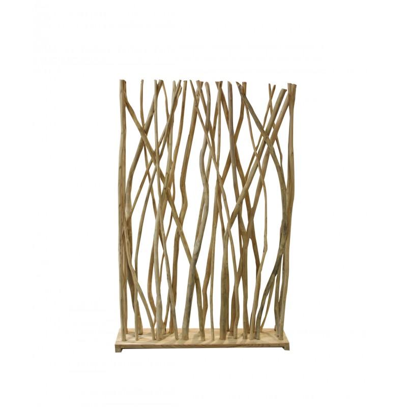 Paravent branches de teck hauteur 180 cm