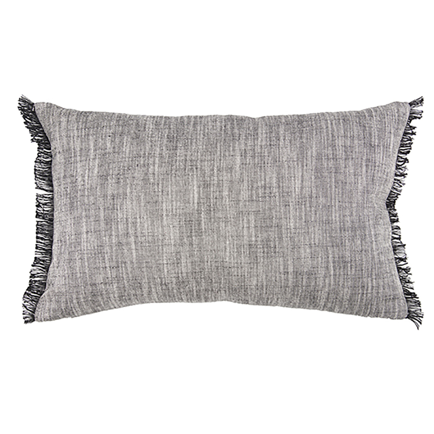 Coussin  en coton gris 30 x 50 (photo)