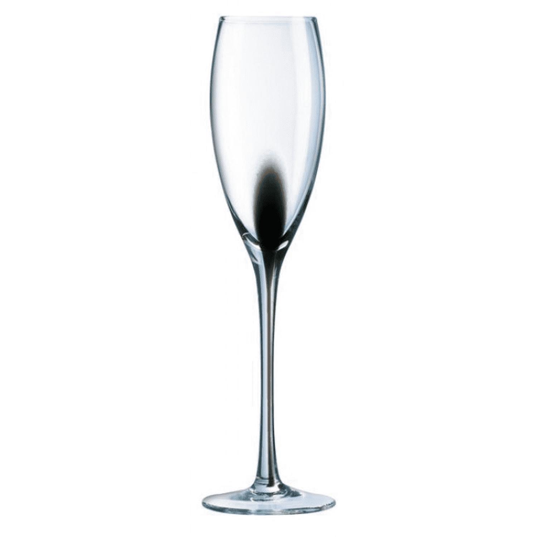 Flûte à Champagne noire 22cl - Lot de 4