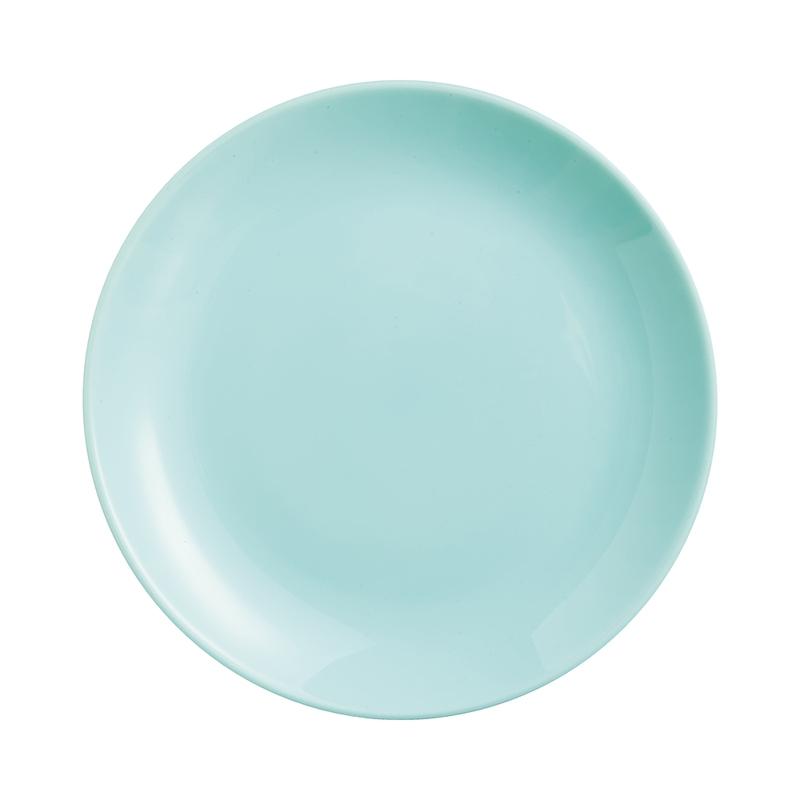 Assiette à dessert en opale turquoise D19cm