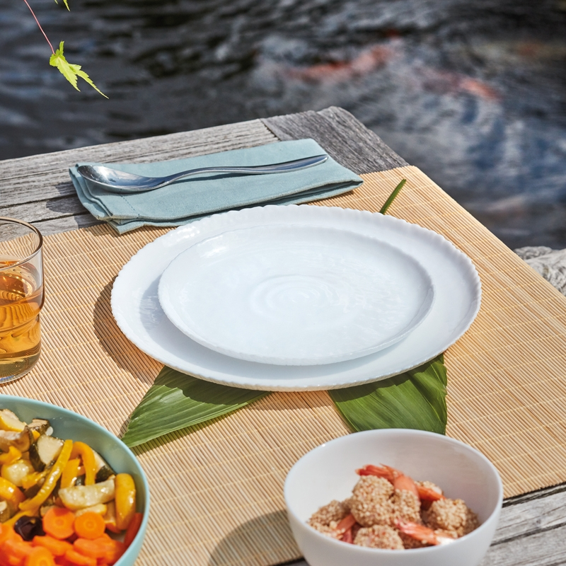 Assiette à dessert blanche D21cm